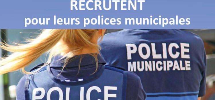 Les collectivités d'Auvergne Rhône Alpes recrutent pour leurs polices municipales