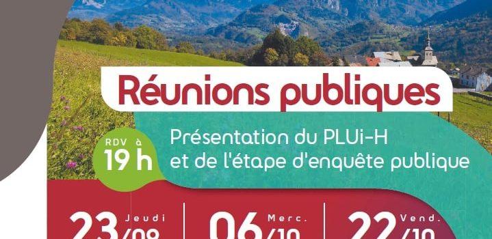 Réunions publiques – PLUi-H