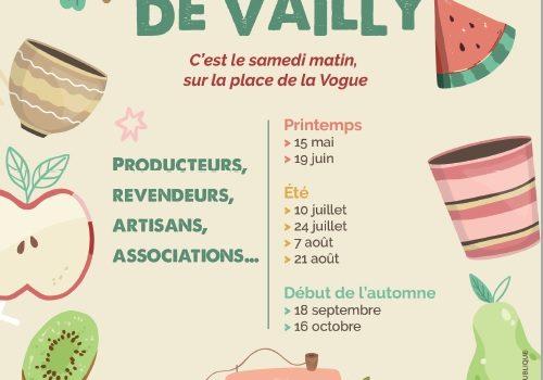Nouveau : le marché de Vailly !!!